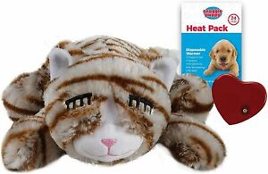 SmartPetLove Snuggle Kitty Behavioural Aid Toy for Pets - Tan Tiger