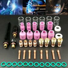 49Pcs TIG Welding Torch #10 Pyrex Cup Saver Gas Lens Collet Kit For WP-17/18/26