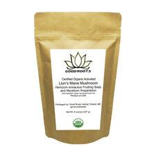 Lions Mane Mushroom Powder Organic USA grown Hericium erinaceus 1/2 pound - 8 oz