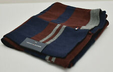 Tommy Hilfiger Men's Knit Scarf Blue Grey Red New! NWT