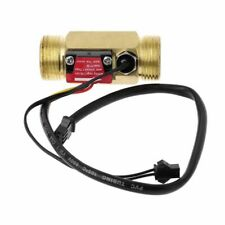 "Flow Meter Sensor Water Switch Temperature Detection Turbine Liquid Copper G3/4"""