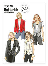 B5928 Misses' Shawl Collar Vest and Jacket Sizes 14-22 Butterick Sewing Pattern