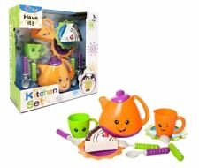 Kids Pretend Play Tea set Childrens Pre School Pretend Play Kitchen Toy Gift Set