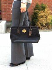 Coach signature logo black tote handbag