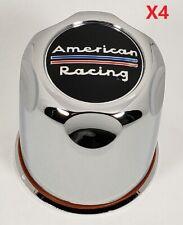 "1327000 Chrome American Racing 3.27"" Bore Wheel Rim Center Cap New Set of 4"