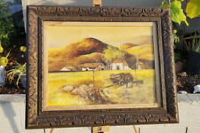FRANK MOSS HAMILTON RARE OIL CANVAS CALIFORNIA SUMMER SIGNED 32 x 26