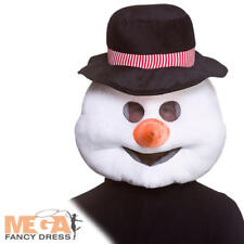 Snowman Mascot Head Adults Fancy Dress Fun Novelty Christmas Costume Accessory