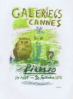Pablo Picasso,Galerie 65 Cannes 1956 Vintage Poster Lithograph 1964 Platesigned