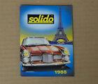 Solido catalogue 1988 voitures militaires Peugeot F1 tank Renault 1/43