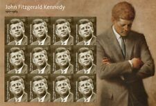 2017 John F Kennedy Stamp Sheet  12 Stamps MNH