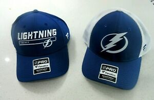 NWT Two (2) Mens Fanatics PRO Tampa Bay Lightning NHL Hockey Hats Caps 1 size