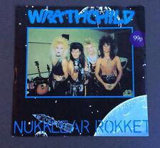 "WRATHCHILD - Nukklear Rokket 7"" Vinyl Single VG 1989 German Pressing Glam Rock"