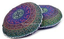 2 PC Round Floor Pillow Cushion Mandala Gypsy Bohemian Round Floor Cushion Cover