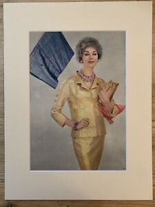 1959  Vanity Fair Fashion Image By Photographer John French. Colour Mounted.