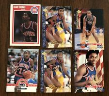 ISIAH THOMAS DETROIT PISTONS AND USA BASKETBALL SIX (6) CARD MIXED LOT PICTURED