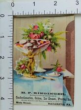 H.F kinginger Confectioneries Cakes Ice Cream Fruits Candy Dish Floral Image F64