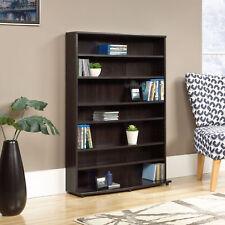 Storage Tower Multimedia Sauder Cherry Cinnamon Finish Organizer Shelf Cabinet