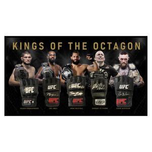 KINGS OF THE OCTAGON UFC SIGNED FRAMED GLOVE SET KHABIB JONES GSP MASVIDAL CONOR
