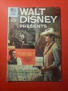 Walt Disney Presents #4A 1960 WESTERN ADVENTURE COMIC BOOK VG FREE SHIPPING