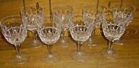 "8 Stuart Crystal Water Goblets - Savoy - 6 1/8"""