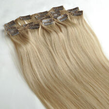 7PCS Remy Hairpiece Straight Clip In 100% Real Human Hair Extensions Any Colors