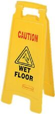 12 Rubbermaid Fg611277yel 25 Yellow Caution Wet Floor 2 Sided Floor Signs