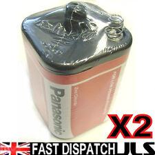 2 PANASONIC 4R25 6V Batteries 6 Volt 996 PJ996 908 908S Lantern 4R25X  4R25RZ/B