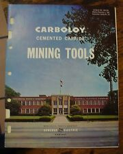 Carboloy Cemented Carbide Mining Tools 1964 Catalog Cm4-200 Free US Shipping