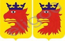 2x skane SWEDEN coat of arms bumper stickers decals
