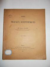 Mathématiques.Notice sur les Travaux Scientifiques de M.Maurice d'Ocagne.1901