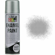 x 3 émail Argent VERNIS Peinture Spray Aerosol 200ml radiateur métal bois etc.