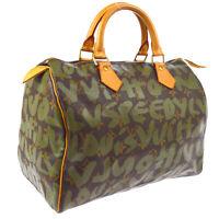 LOUIS VUITTON SPEEDY 30 HAND BAG MONOGRAM GRAFFITI M92194 A46558b