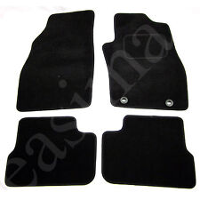 Fiat Grande Punto Grand 2006 onwards Tailored Carpet Car Mats Black 4pc Set