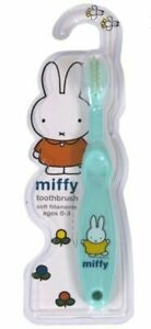 Miffy Baby Toddler Toothbrush 0-3 Year Mint Bunny rabbit easy grip Soft Bristle
