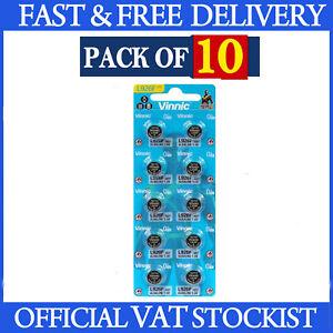 10 x L926 395 Batteries Vinnic Alkaline 1.5V L926 399 AG7 G7 SR926 SR57 LR926