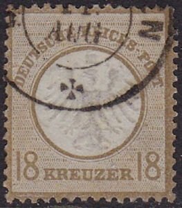 VERY SCARCE 1872 18K BISTRE SMALL SHIELD VERY GOOD / FINE USED SG13 CAT £600