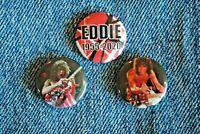 "Van Halen music band Pin Pinback Buttons 1"" jacket Badge hat Eddie RIP 1955 2020"