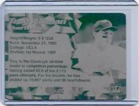1/1 TROY AIKMAN DALLAS COWBOYS 1996 PACIFIC PRINTING PLATE UCLA FOOTBALL 1 OF 1