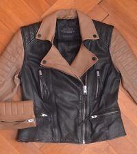 AllSaints Women's AMITY Leather Biker Jacket UK 10