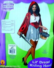 LITTLE DREAD RIDING HOOD DELUXE HALLOWEEN COSTUME RED CAPE WOMENS ONE SIZE