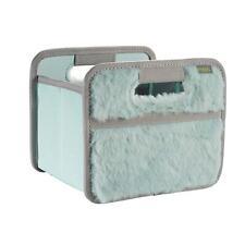 Faltbox Mini, Mint -Plüsch- Aufbewahrung Box für Auto Schrankwand Regal