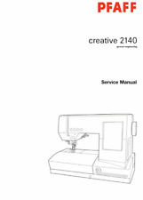 PFAFF Creative 2140 2144 Sewing Machine Repair / Service Manual PDF Download