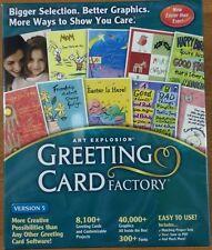 Nova Greeting Card Factory 5 NEW Windows XP,98,2000 UK Free Postage Christmas