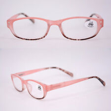 PC full frame round frame HD lens plastic color matching reading glasses pink
