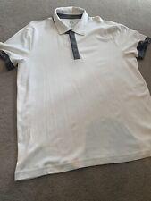 Mens Armani Exchange Off White Polo Top Size XL