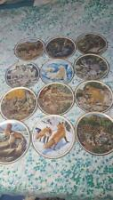 Lenox 1982 American Wildlife Collector Plates-Le By Norman Adams Full Set (12 )
