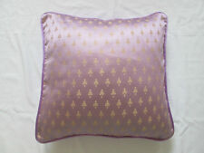 """Asian Oriental Ethnic Indian Silk Floral Cushion Cover Lilac Purple Gold 18"""""""