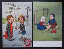 Young Love Boy Girl Couple-Artist GE Shepheard-2 Antique Vintage Tucks Postcards