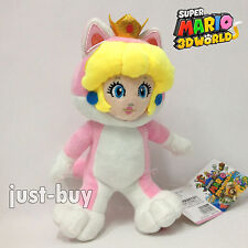 Super Mario 3D World Cat Princess Peach Plush Soft Toy Stuffed Animal Teddy 9""
