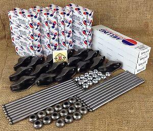 GM Chevy 283 327 350 Valve Train Kit - Premium Melling Push Rods, Rockers Kits